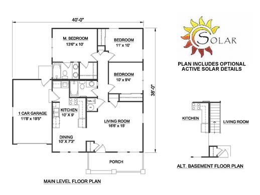 Casa de 1 piso 3 habitaciones y 100 metros cuadrados - Planos de casas de 100 metros cuadrados ...