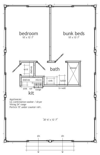 casa de 1 piso 2 habitaciones y 65 metros cuadrados