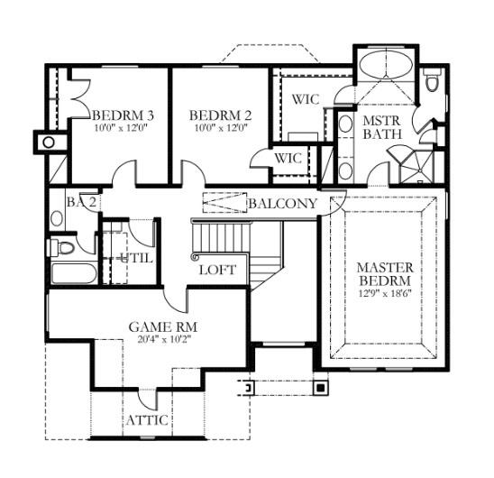 plano planta alta casa de 2 pisos y 3 habitaciones