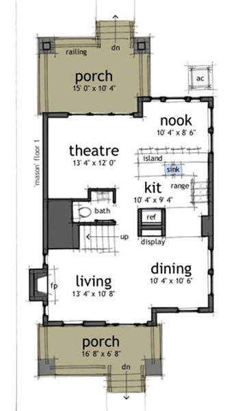 Casa de 2 pisos 3 habitaciones y 150 metros cuadrados planos de casas gratis deplanos com - Planos casas planta baja ...