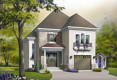 Casa de 2 pisos 3 habitaciones y 146 metros cuadrados for Planos de casas de 2 pisos y 3 dormitorios