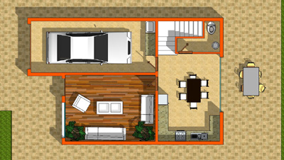 plano planta baja puna de atacama casa de 2 pisos y 3 habitaciones
