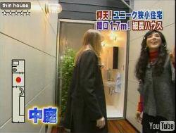 Casa japonesa de 1,7 metros de ancho