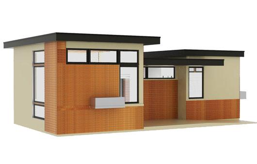 casa de un dormitorio y 50 metros cuadrados planos de
