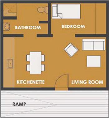 Casa De 1 Dormitorio Y 45 Metros Cuadrados Planos De Casas Gratis Deplanos Com