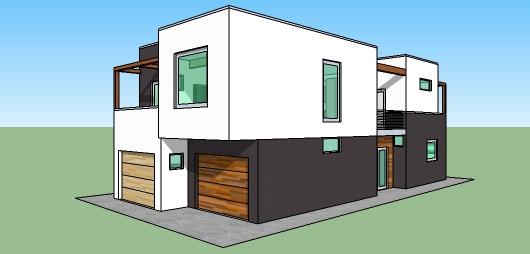 Ver casas de dos pisos y tres dormitorios planos de for Casa moderna 3 habitaciones