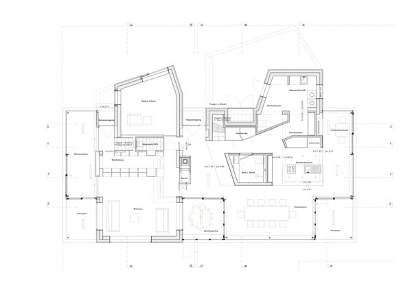 Casa moderna de 2 pisos y 350 metros cuadrados planos de for Casas minecraft planos