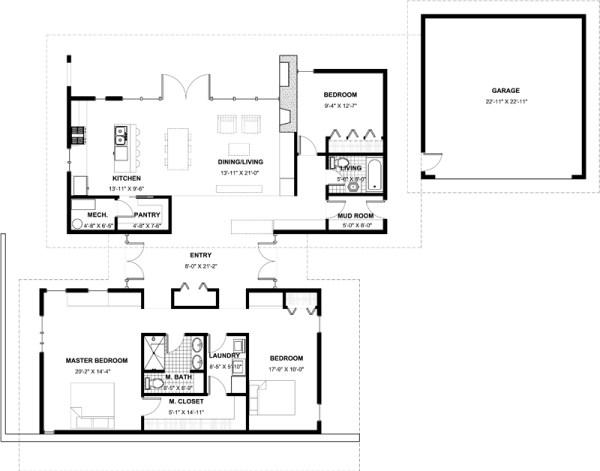 Casa moderna de 3 dormitorios y 191 metros cuadrados for Dormitorio 12 metros cuadrados