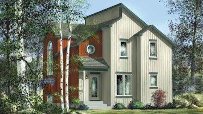 Casa de dos pisos, dos dormitorio y 105 metros cuadrados