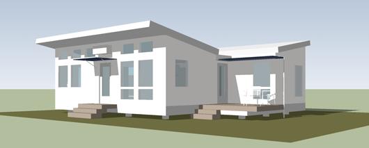 Pequeña casa de un dormitorio y 60 metros cuadrados