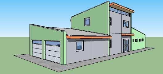 Casa para construir en etapas de dos pisos y tres dormitorios