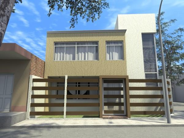 Casa De Dos Pisos Y Tres Dormitorios Con Terraza Planos De