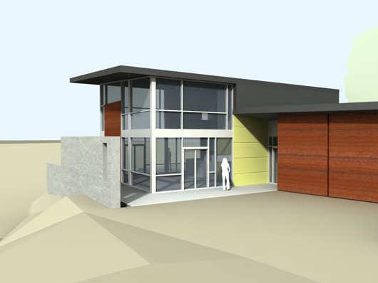 Moderna casa de dos pisos y dos dormitorios