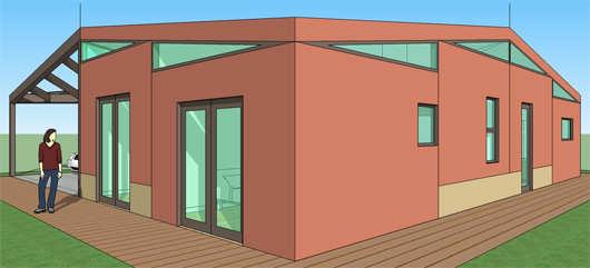 Casa moderna de 2 dormitorios y 116 metros cuadrados