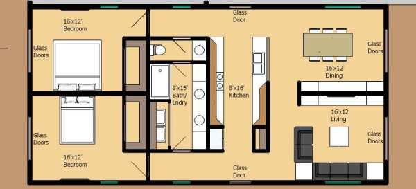 Casa moderna de 2 dormitorios y 116 metros cuadrados Casas modernas 80 metros cuadrados