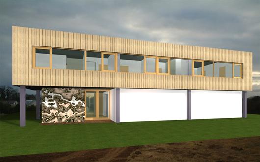 Casa moderna para esquina de 252 metros cuadrados