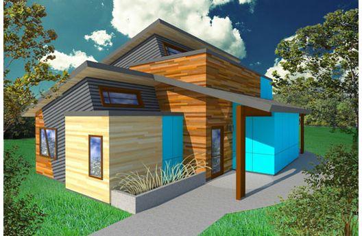 casa moderna de dos pisos tres dormitorios y metros cuadrados