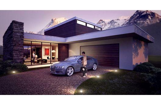 Moderna casa para country de 275 metros cuadrados planos for Casas modernas de 80 metros