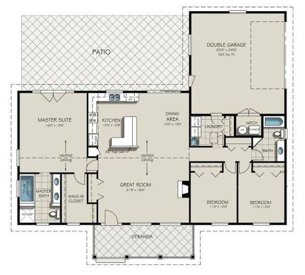 Casa para esquina de tres dormitorio y 179 metros cuadrados planos de casas gratis deplanos com - Pasar de metros a metros cuadrados ...
