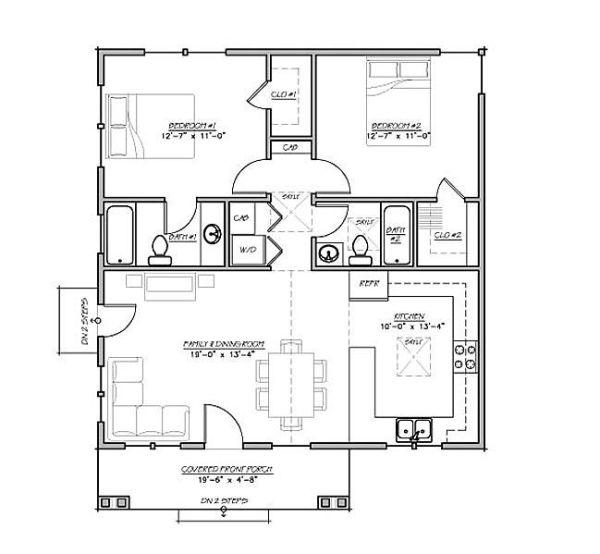 Casa de una planta dos dormitorios y 86 metros cuadrados for Dormitorio 15 metros cuadrados