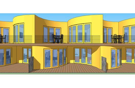 Casa rara de dos pisos y dos dormitorios
