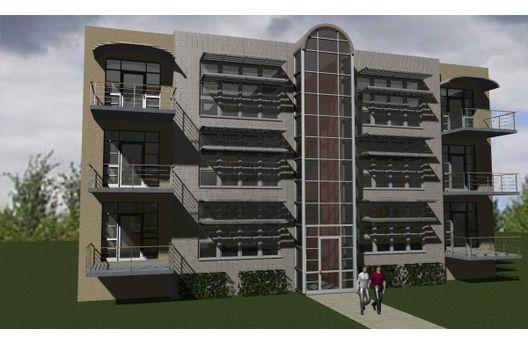 Edificio de departamentos de tres pisos