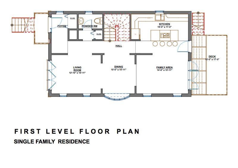 Casa de dos pisos con sotano planos de casas gratis for Bano bajo escalera planta