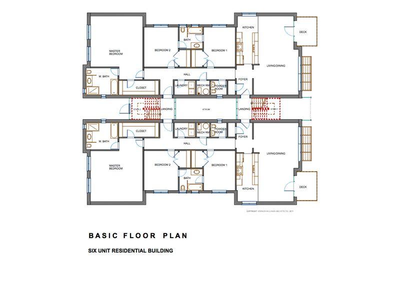Edificio de departamentos de tres pisos planos de casas for Planos de pisos grandes