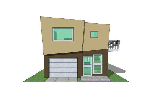 Duplex de un dormitorio y 73 metros cuadrados en 3d planos for Casa minimalista planos gratis