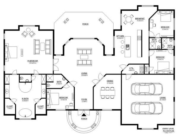 Casa mediterranea de 4 dormitorios y 290 metros cuadrados Viviendas modernas de dos plantas