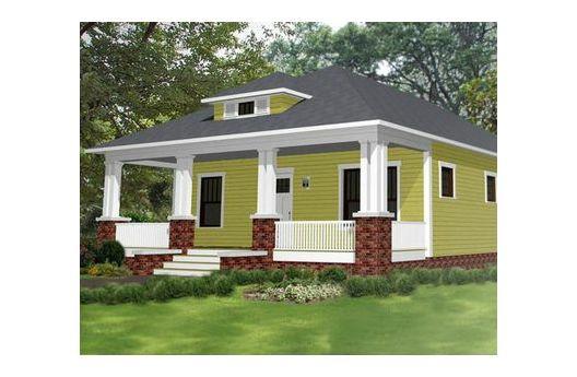 Pequeña y confortable casa de una planta, tres dormitorios y 109 metros cuadrados