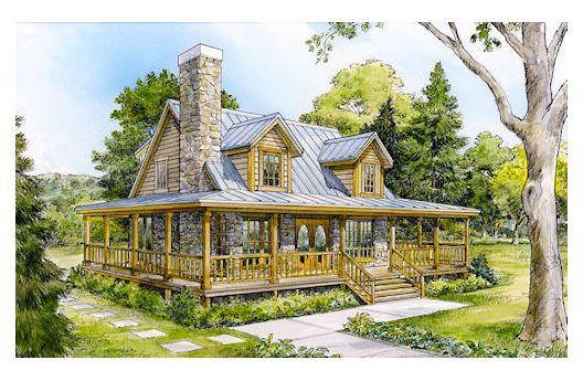 Peque a casa de campo de dos plantas tres dormitorios y for Casas con planos y fotos