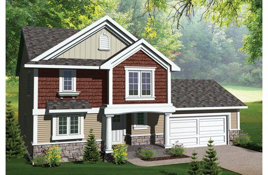 Sencilla casa de dos plantas, tres dormitorios y 151 metros cuadrados