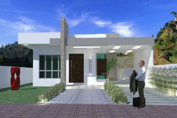 Pequeña casa moderna de tres dormitorios y 93 metros cuadrados