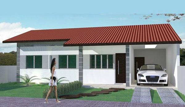 Bella casa de un piso, tres dormitorios y 102 metros cuadrados