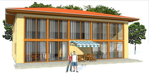 Moderna y lujosa casa de dos plantas tres dormitorios y for Casa moderna 80 metros cuadrados