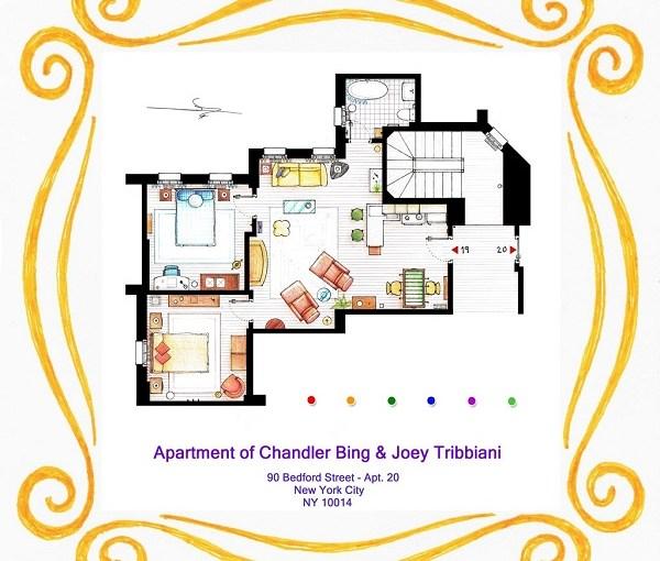 El departamento de Chandler y Joey de la sitcom Friends