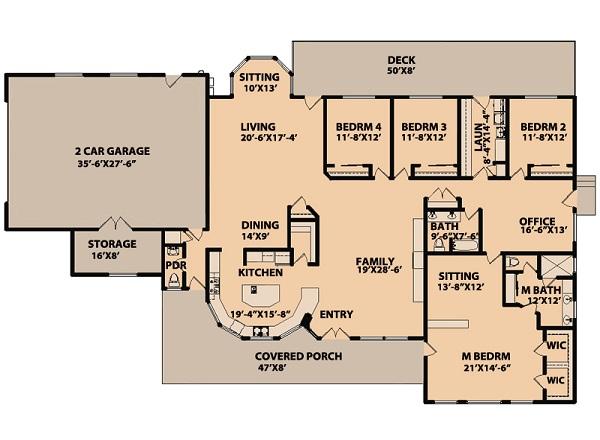 Enorme casa de una planta tres dormitorios y 310 metros for Planos de casas de una planta 4 dormitorios