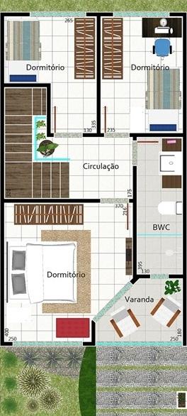 Sencilla casa de dos plantas tres dormitorios y 106 for Planos de casas de 10 metros de frente