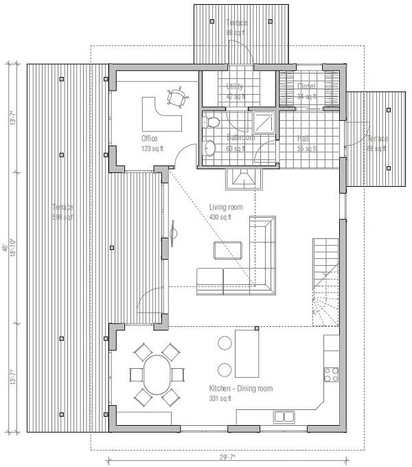Casa moderna en 3d de dos pisos tres dormitorios y 179 for Casa moderna 5 dormitorios