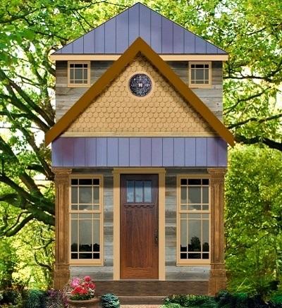 10 planos y frentes de casas peque as con un dormitorio for Casas reducidas