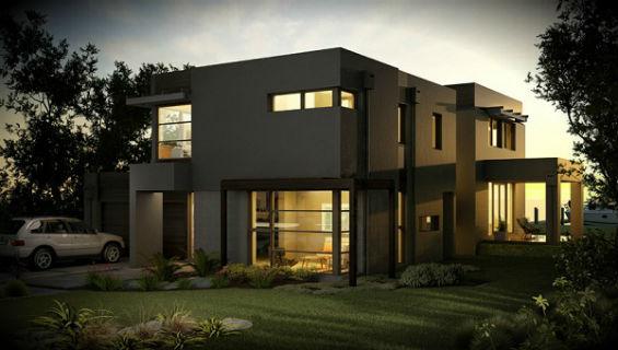 Ver planos de casas modernas de dos plantas planos de for Casa minimalista 4 dormitorios