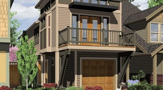 Casa angosta de dos pisos, dos dormitorios y 112 metros cuadrados