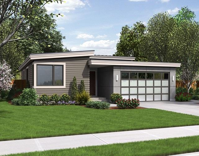 Moderna y sencilla casa de una planta tres dormitorios y for Casa 2 plantas 160 metros cuadrados