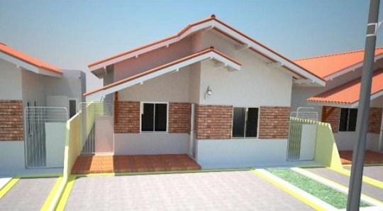 Casa económica de una planta, tres dormitorios y 83 metros cuadrados