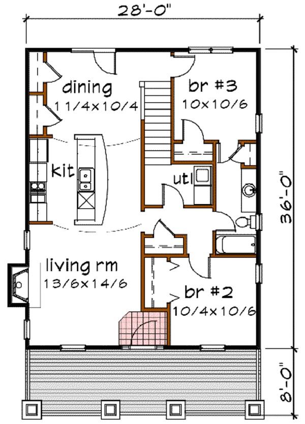Plano de hermosa casa de dos plantas tres dormitorios y 136 metros cuadrados planos de casas - Pasar de metros a metros cuadrados ...