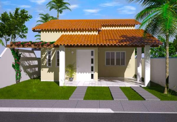 Plano de casa economica de tres dormitorios y 111 metros cuadrados