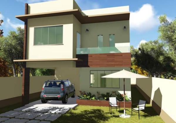 Plano de casa con tres suites en dos plantas y 154 metros for Casa de dos plantas de 70 metros cuadrados