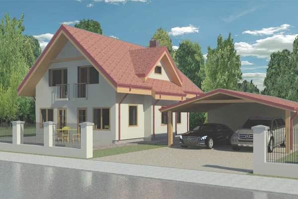 casa compacta de dos plantas tres dormitorios y metros cuadrados