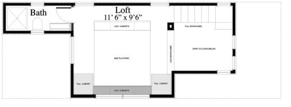 plano planta alta Casa de playa de dos plantas y dos dormitorios